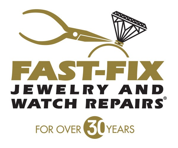 "Fast Fix logo that reads ""Fast-Fix Jewelry and Watch Repairs"" in large text and For Over 30 Years in small text"