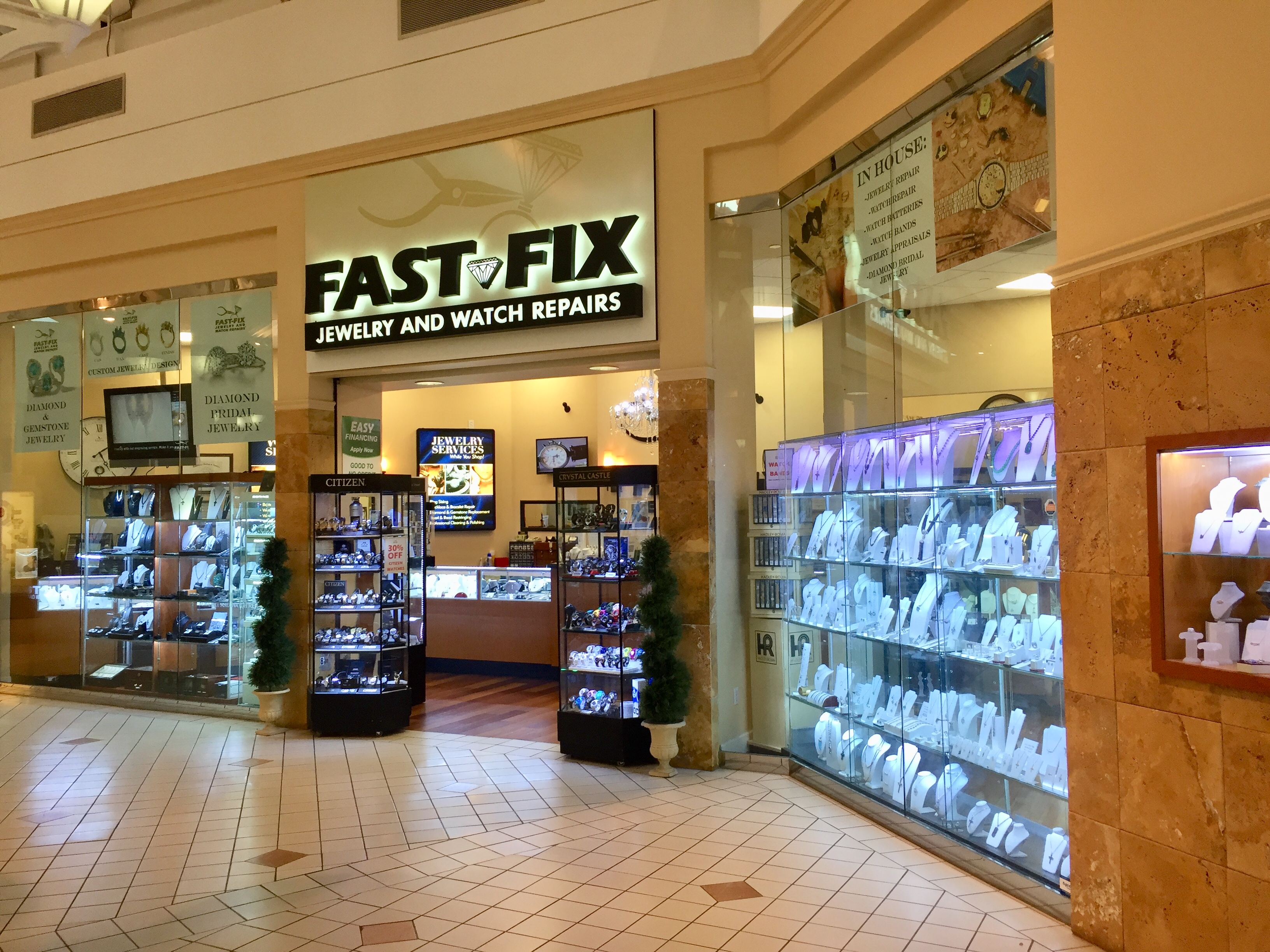 Interior of a Fast-Fix franchise