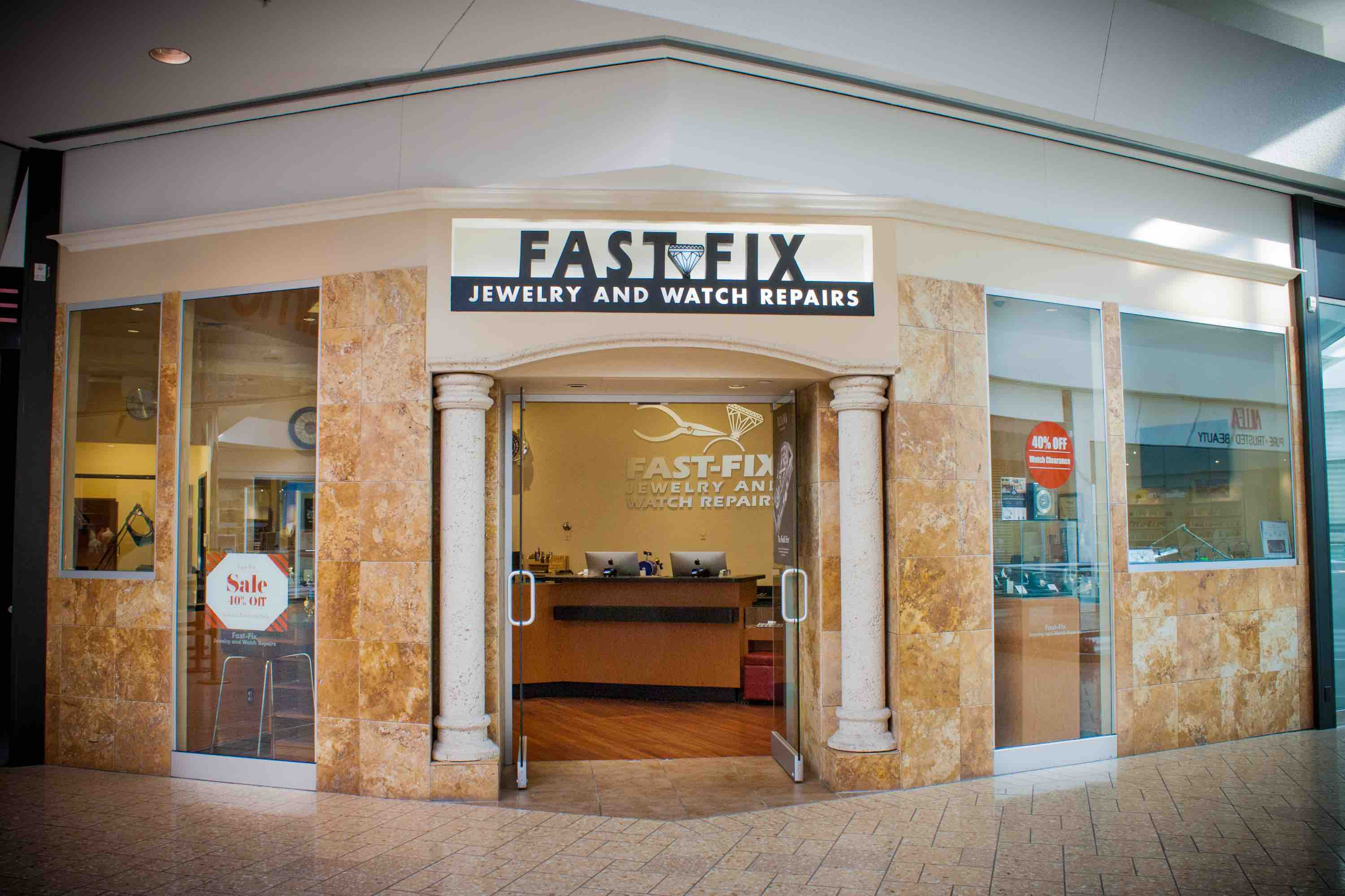 Store front of Cherry Creek Shopping Center Fast Fix