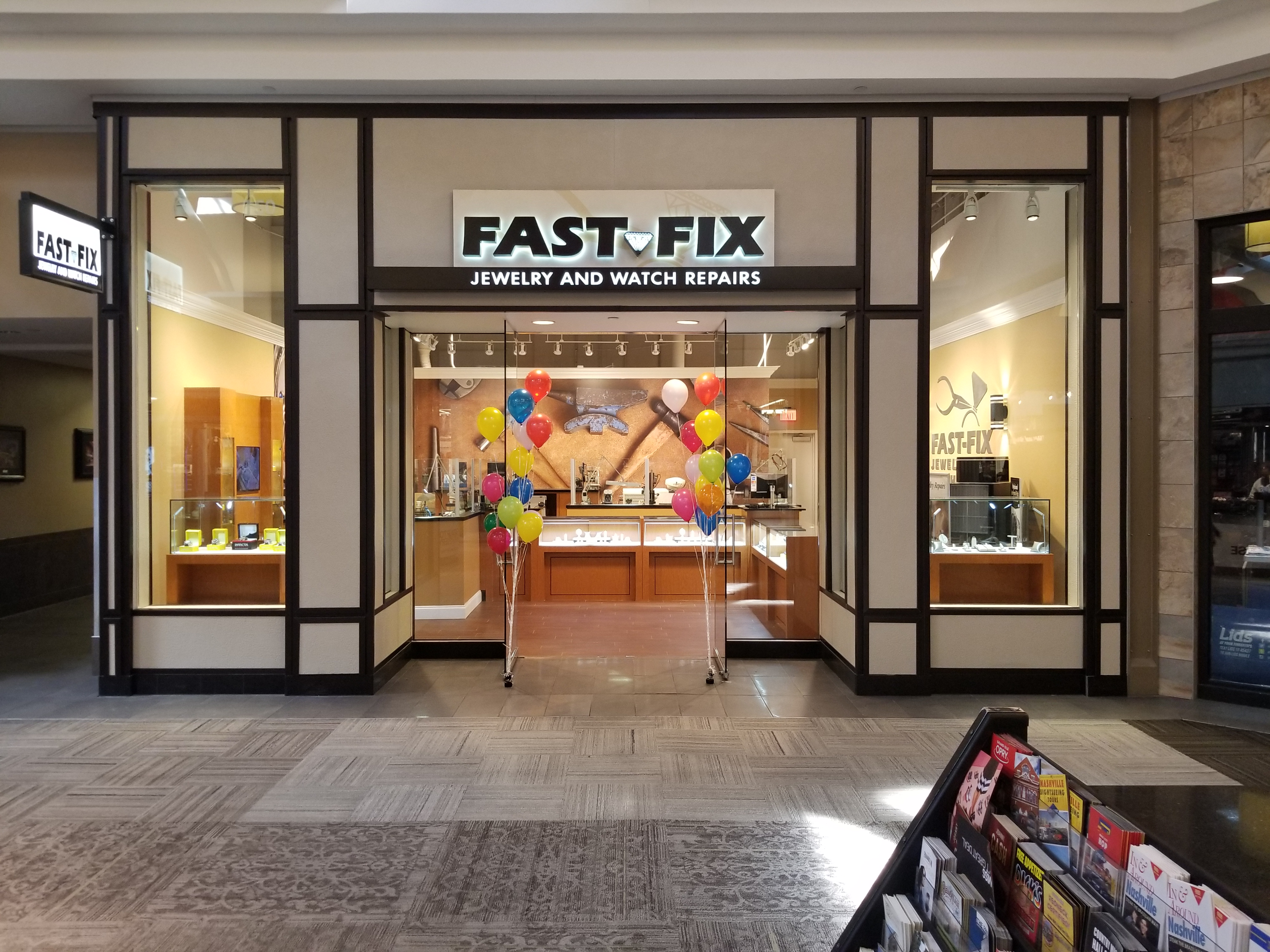 Store front of a Fast-Fix franchise
