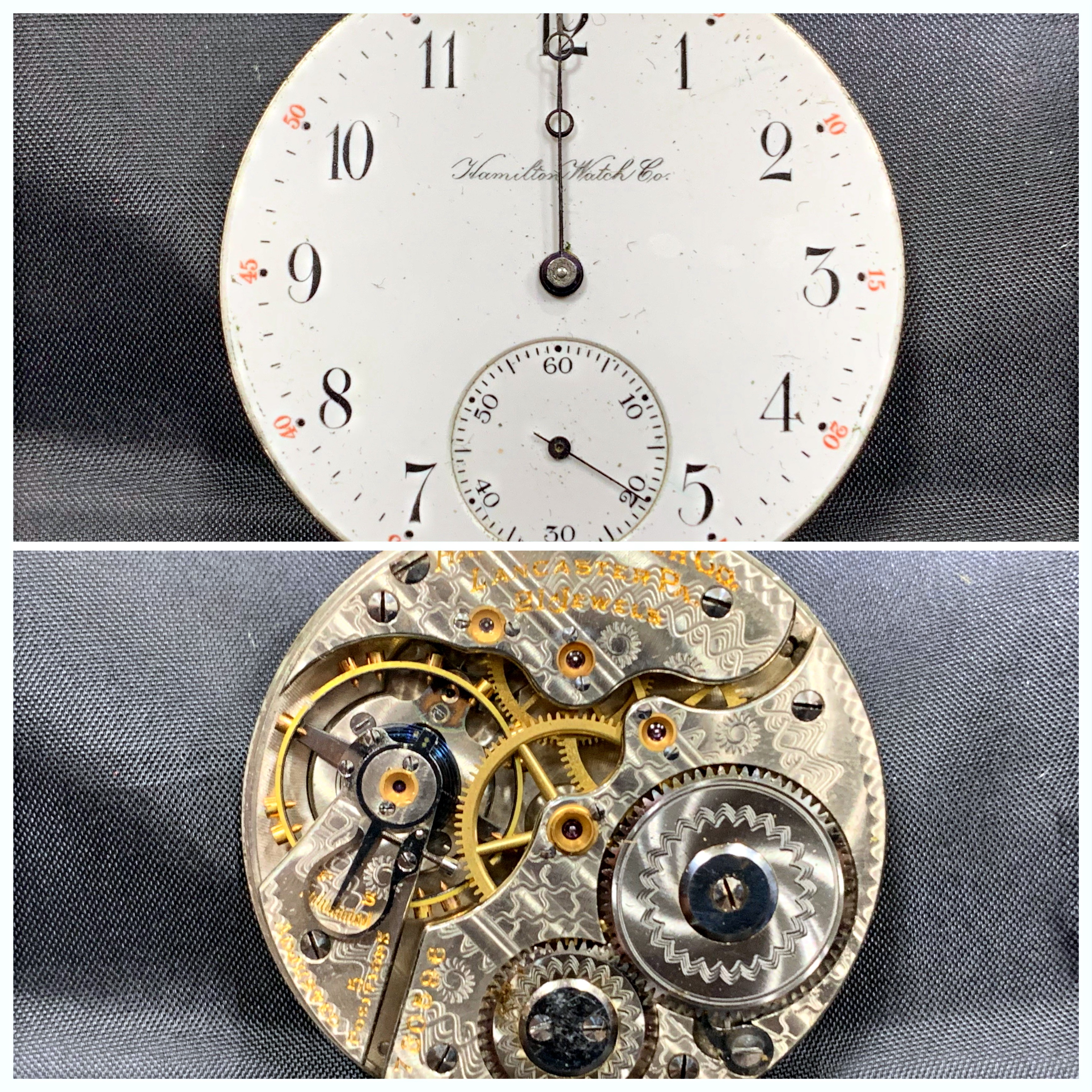 Repaired pocket watch from 1880's