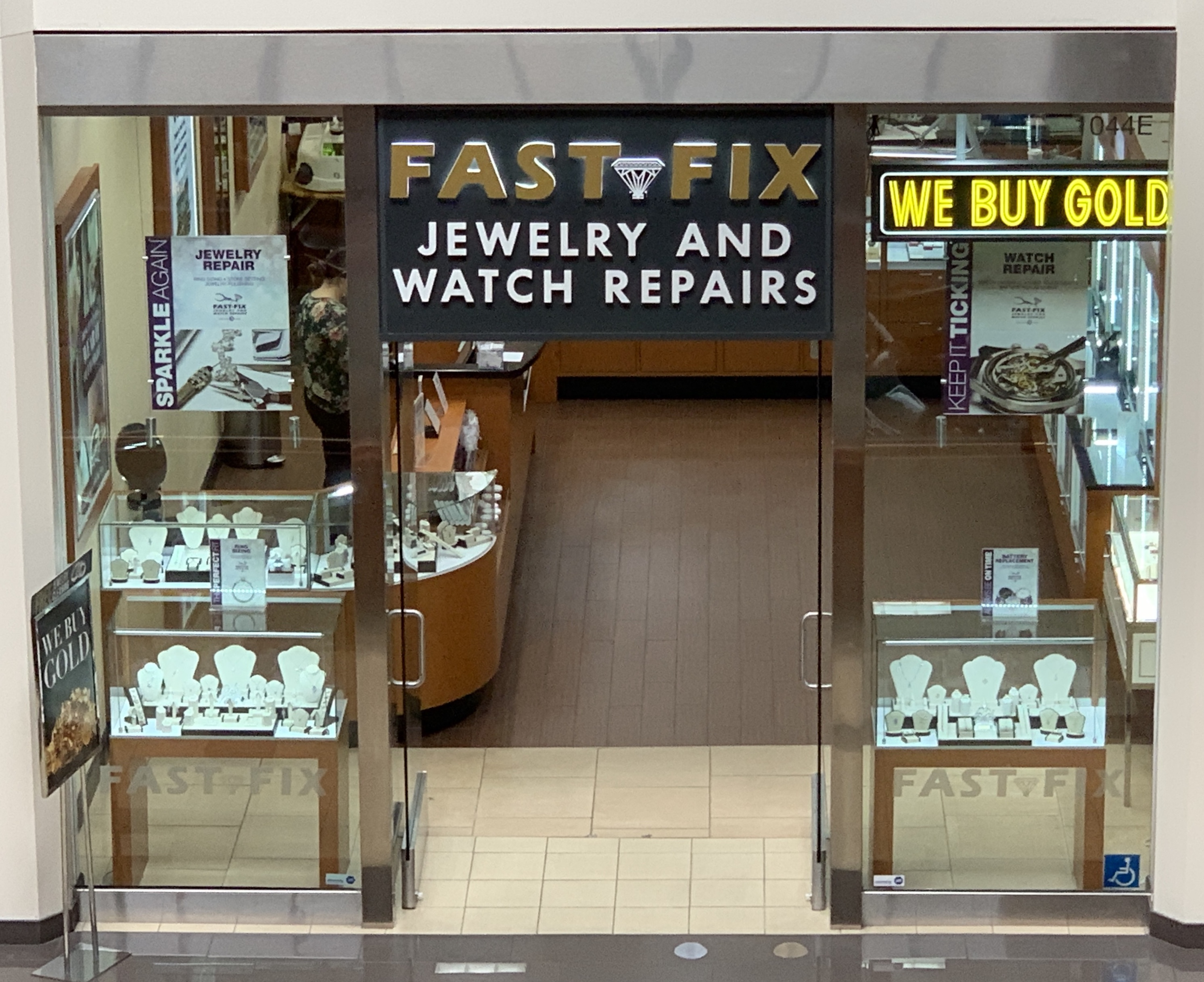 Photo of the store front of Fast-Fix Jewelry and Watch Repair in Brea Mall