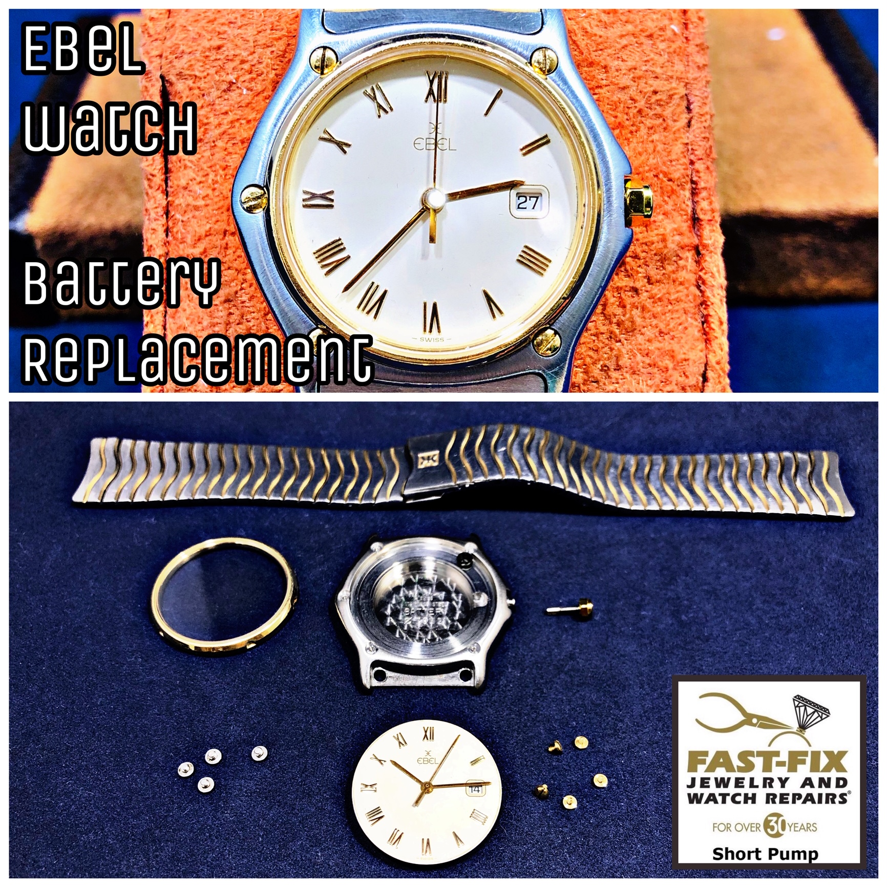 Ebel watch battery replacement